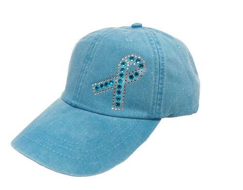 Teal Ribbon Cap - Ovarian Cancer Awareness Hat
