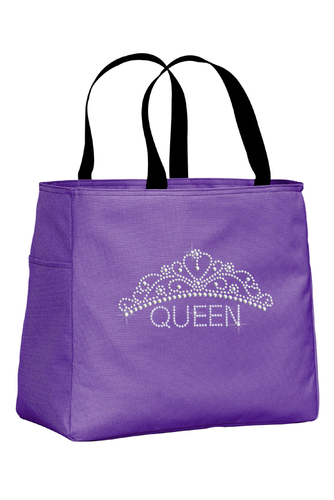 Rhinestone Tiara Tote Bag for the Queen
