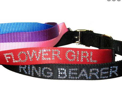 Personalized Rhinestone Dog Collar