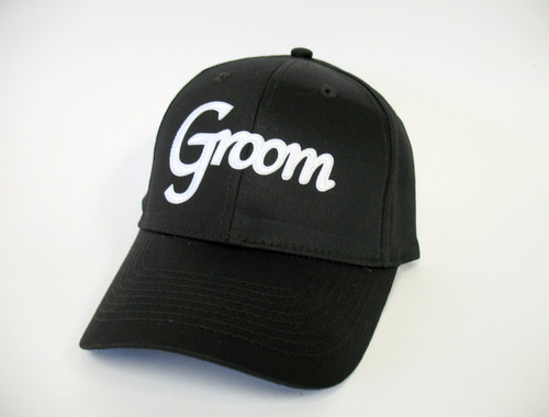 Groom Cap with White Lettering