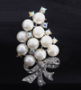 Pearl and Crystal Bouquet Pin