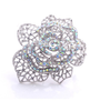Clear and AB Crystal Rose Cutout Pin