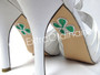 Lucky Shamrock Shoe Stickers for Wedding Shoes
