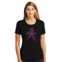 "Pink Ribbon ""Survivor"" Breast Cancer Shirt - Misses Crew Neck Tee"