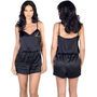 Satin Romper Embroidered with Single Initial
