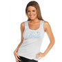 Ribbed Bride Tank Top with Ring Accent