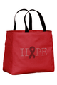Red Tote Bag with Jet (black) Ribbon