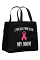 Black Tote Bag with White Wording