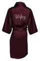 Metallic Wifey Robe with Heart Accent