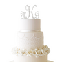 Monogram Cake Topper with Swarovski Crystals