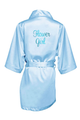 Satin Robes with Bridal Titles in Metallic Vinyl