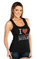 I Love Miracle Mile with Established Date Custom Print Ribbed Tank