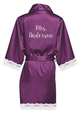 Personalized Lace Satin Robes with Glitter Print