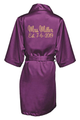 Personalized Embroidered Mrs. with Established Date Satin Robes