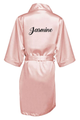 Personalized Glitter Print Satin Robes