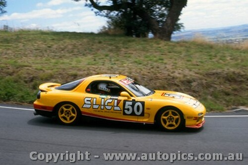 94021 - P. McLeod / P. Dane / D. Wall  Mazda RX7S - Hardie Ferodo 12 Hour Bathurst  1994 - Photographer Lance J Ruting