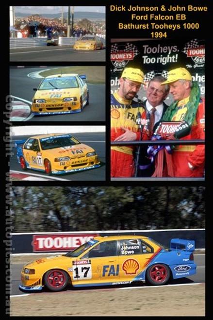 Dick Johnson & John Bowe  -  A collection of 5  photos from Bathurst 1994 - Ford Falcon EB