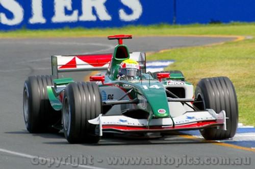 204502 - Mark Webber  - Jaguar Cosworth  - Australian Grand Prix Albert Park 2004 - Photographer Marshall Cass