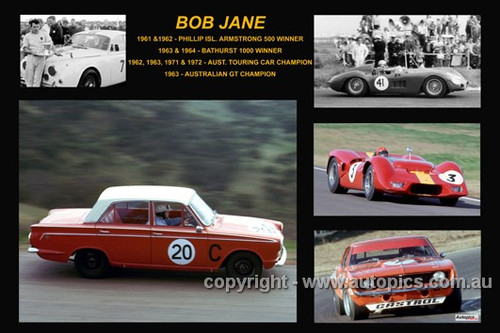 362 - Bob Jane - A collage of a few of the cars he drove during his career