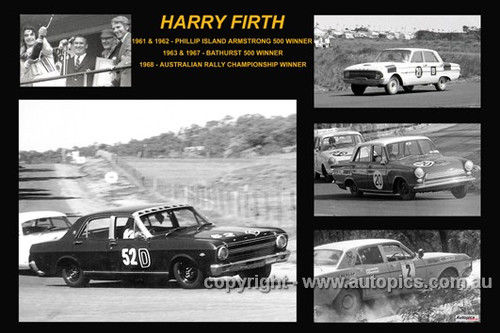 368 - Harry Firth - A collage of a few of the cars he drove during his career