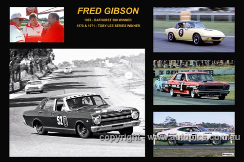 370 - Fred Gibson - A collage of a few of the cars he drove during his career