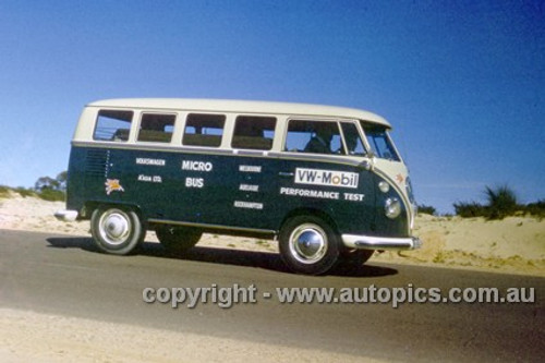 64967 - Volkswagen Mobil Performance Test 1964 - Melbourne to Adelaide to Rockhampton - VW Micro Bus - Photographer Peter D'Abbs