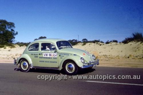 64968 - Volkswagen Mobil Performance Test 1964 - Melbourne to Adelaide to Rockhampton - VW 1300 Deluxe Sedan - Photographer Peter D'Abbs