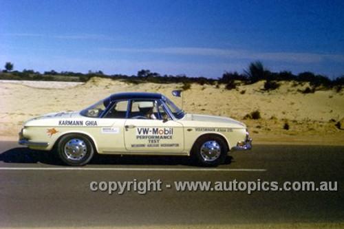 64969 - Volkswagen Mobil Performance Test 1964 - Melbourne to Adelaide to Rockhampton - VW Karmann Ghia - Photographer Peter D'Abbs