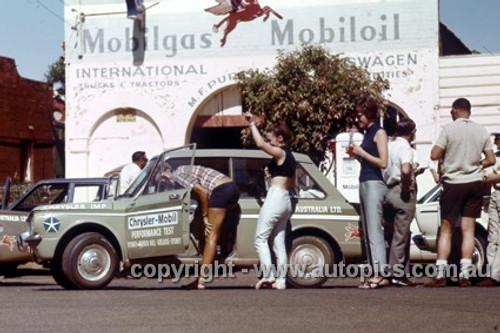 66924 - Chrysler Mobil Performance Test October 1966 - Sydney to Brocken Hill to Adelaide to Sydney - Chrysler Imp - Photographer Peter D'Abbs