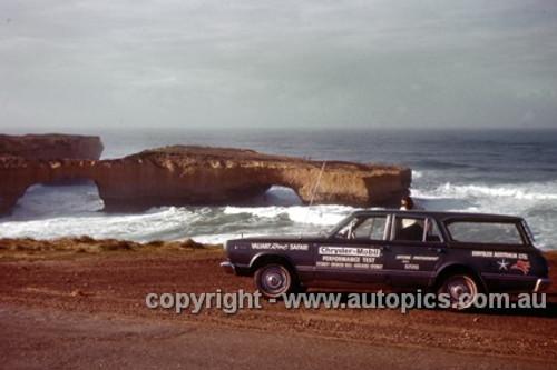 66925 - Chrysler Mobil Performance Test October 1966 - Sydney to Brocken Hill to Adelaide to Sydney - Valiant Regal Safari - Photographer Peter D'Abbs