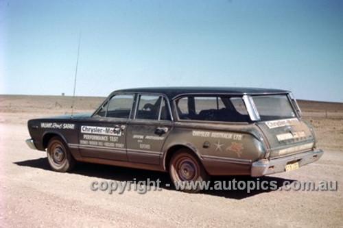 66926 - Chrysler Mobil Performance Test October 1966 - Sydney to Brocken Hill to Adelaide to Sydney - Valiant Regal Safari - Photographer Peter D'Abbs