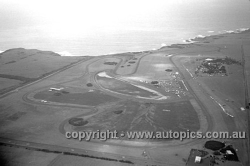 67311 - Arial shot of Phillip Island 22nd October 1967 - Photographer Peter D'Abbs