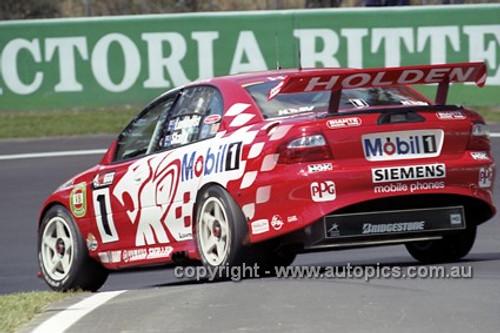 201722 - Mark Skaife / Tony Longhurst - Holden VX Commodore - 1st Outright Bathurst 2001 - Photographer  Marshall Cass