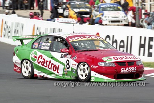 201743 - A. Macrow & L. Youlden, Holden Commodore VX - Bathurst 2001 - Photographer  Marshall Cass