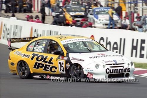 201755 - A. Tate & A. Jones, Ford Falcon AU - Bathurst 2001 - Photographer  Marshall Cass