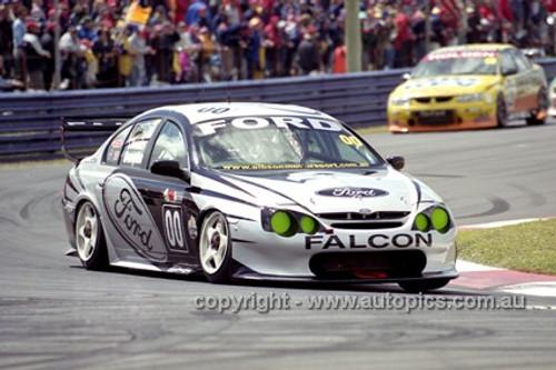 201756 - C. Lowndes & N. Crompton, Ford Falcon AU - Bathurst 2001 - Photographer  Marshall Cass