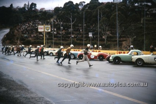 630002 -  Start of the Production Sports Car Race - Catalina Park Katoomba  1963 - Photographer Bruce Wells.