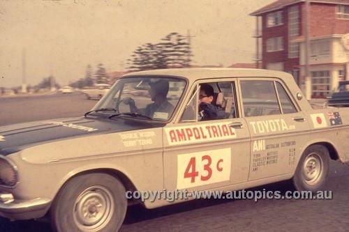 64977 - 1964 Ampol Trial - Charlie Hosoya, Toyota Crown - Photographer Ian Thorn