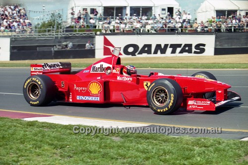 97508 - Mika Hakkinen, McLaren-Mercedes - 3rd Place, Australian Grand Prix Albert Park Melbourne 1997 - Photographer Marshall Cass