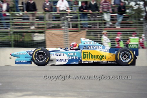 95519 - Michael Schumacher, Benetton-Renault - Australian Grand Prix - Adelaide 1995 - Photographer Marshall Cass