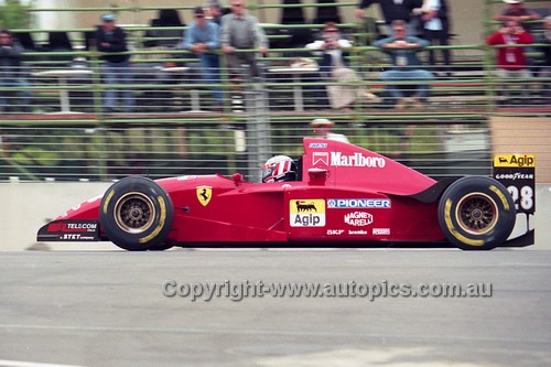 95515 - Gerhard Berger, Ferrari - Australian Grand Prix - Adelaide 1995 - Photographer Marshall Cass