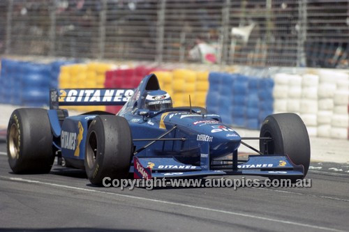 95513 - Oliver Panis, Ligier-Mugen-Honda - Australian Grand Prix - Adelaide 1995 - Photographer Marshall Cass