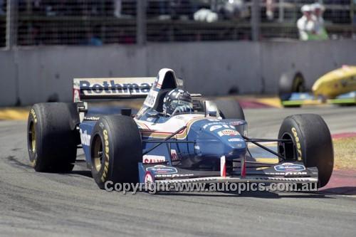 95512 - Damon Hilll,Williams - Australian Grand Prix - Adelaide 1995 - Photographer Marshall Cass
