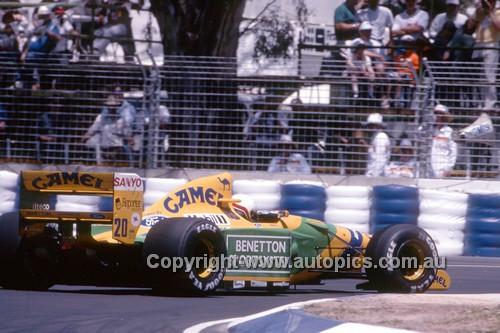 92514 - Michael Schumacher, Benetton-Ford - 2nd Place Australian Grand Prix - Adelaide 1992