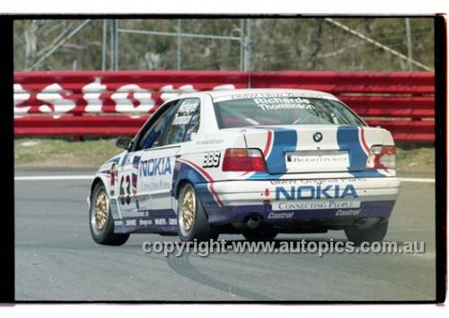 98877 - JASON RICHARDS / BARRIE THOMLINSON, BMW 320i - AMP 1000 Bathurst 1998 - Photographer Marshall Cass