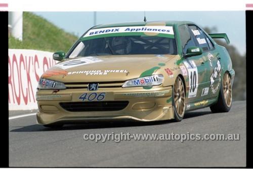 98872 - TONY NEWMAN / MARK WILLIAMSON, PEUGEOT 406 - AMP 1000 Bathurst 1998 - Photographer Marshall Cass