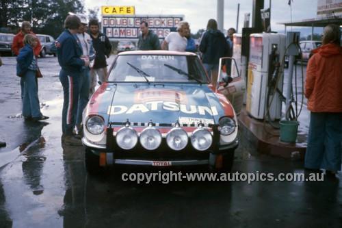 76099 - Ross Dunkerton, Datsun 260Z - Warrana Rally 1976 - Photographer Martin Domeracki