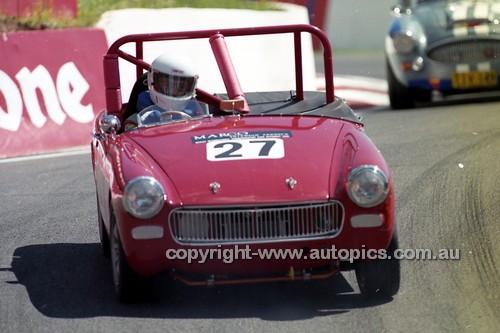 98220 - Bob Rowntree, Austin Healey Sprite - Donald Healey International Tribute - Bathurst 1998 - Photographer Marshall Cass