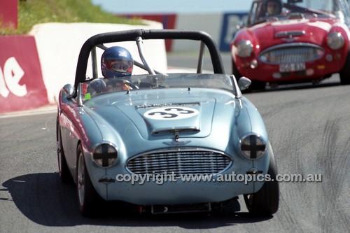 98215 - Mike Broso, Austin Healey BT7 - Donald Healey International Tribute - Bathurst 1998 - Photographer Marshall Cass