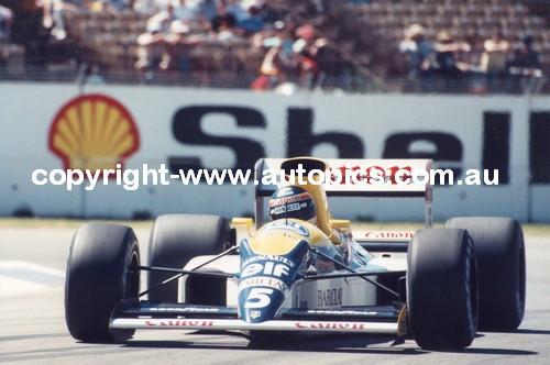 T. Boutsen - Williams  -   AGP - Adelaide 1989
